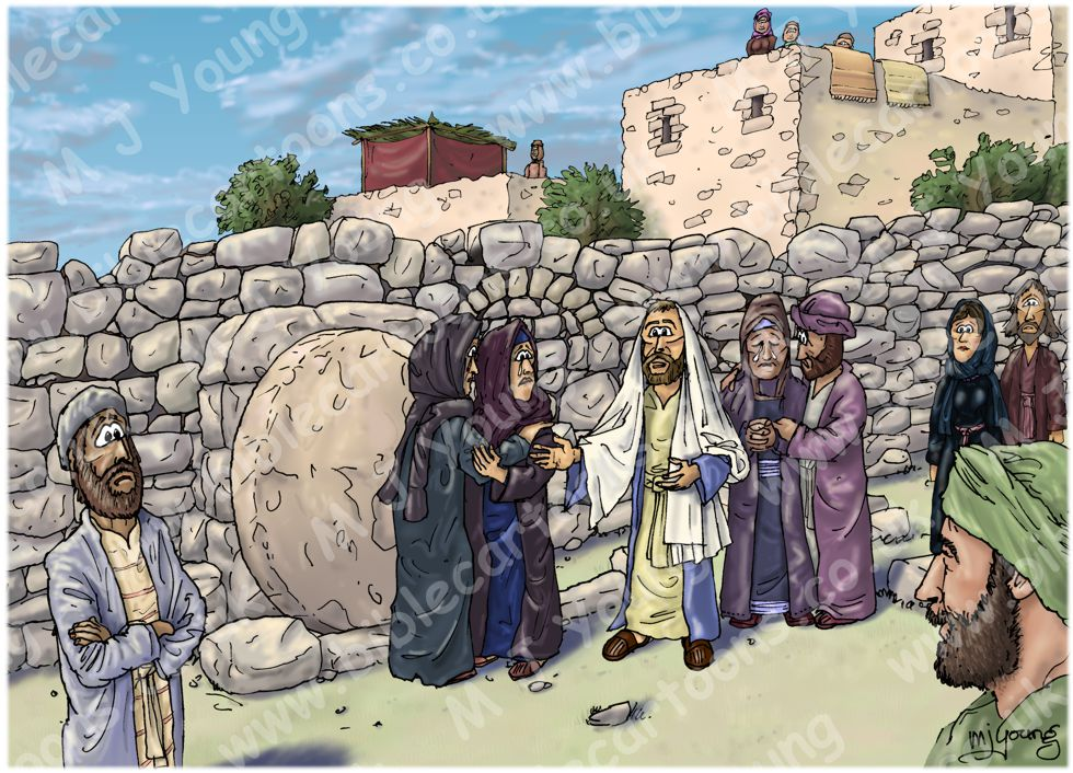 John 11 - Lazarus resurrected - Scene 01 - Jesus at the tomb (Version 02)