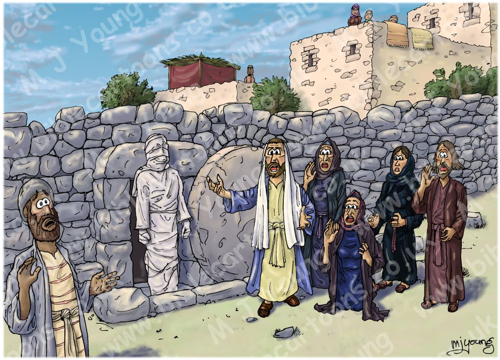 John 11 - Lazarus resurrected - Scene 04 - Lazarus raised (Version 02)