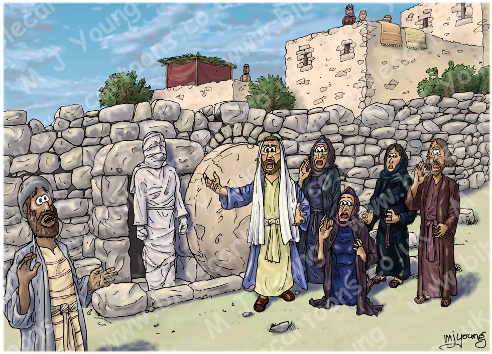 John 11 - Lazarus resurrected - Scene 04 - Lazarus raised (Version 03)