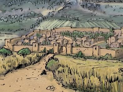 Luke 07 - Jesus raises a widow's son - Scene 01 - Approaching Nain LIGHTER - PARTIAL