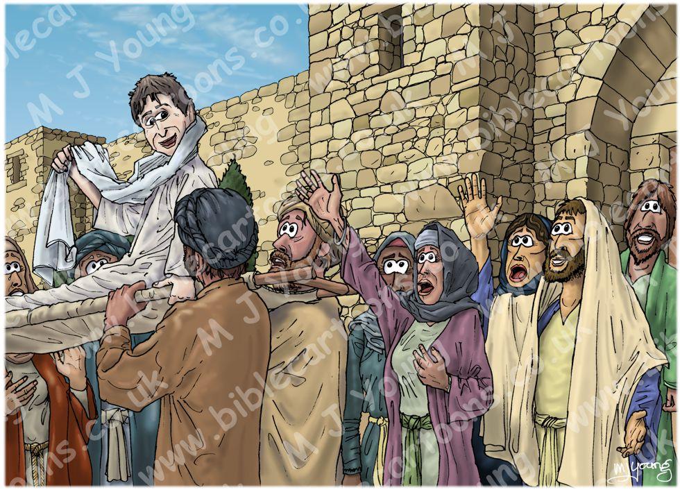 Bible Cartoons Luke 07 Jesus Raises A Widow S Son