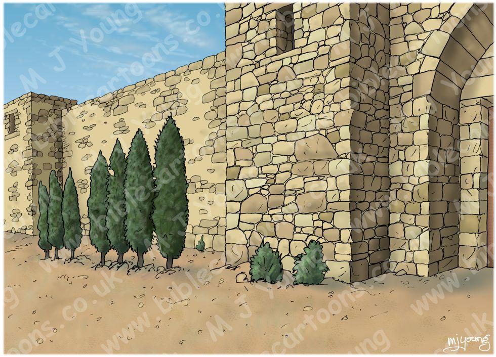 Luke 07 - Jesus raises a widow's son - Scene 03 - Reunited Landscape