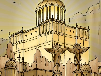 Revelation 21 - New Jerusalem - Scene 06 - City & gates (Gold sky) - PARTIAL 02