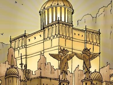 Revelation 21 - New Jerusalem - Scene 06 - City & gates (Gold sky) - PARTIAL 02