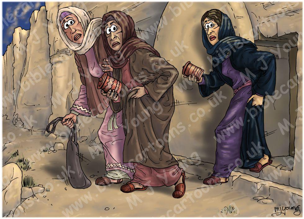 Mark 16 - Resurrection of Jesus - Scene 04 - Bewildered