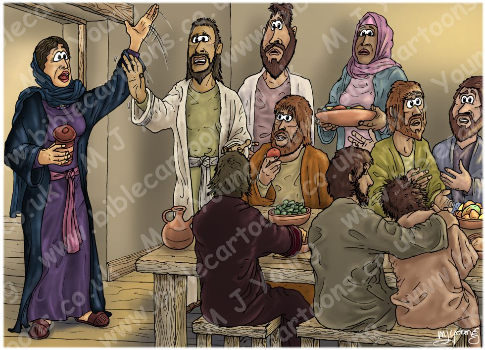 Bible Cartoons Mark 16 Resurrection Of Jesus Scene 07