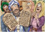Exodus 32 - Gold calf - Scene 05 - Stone tablets (Hebrew)
