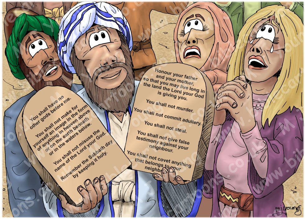 Exodus 32 - Gold calf - Scene 05 - Stone tablets (English)