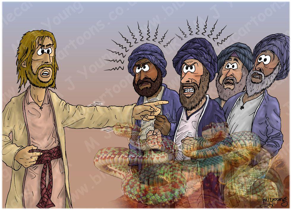 Matthew 03 - Jesus' Baptism - Scene 03 - Viper brood