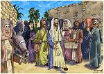 Luke 19 - Zacchaeus the tax collector - Scene 01 - Jesus enters Jericho 980x706px col