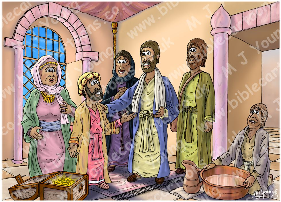 Luke 19 - Zacchaeus the tax collector - Scene 07 - Salvation has come (Version 02) 980x706px col