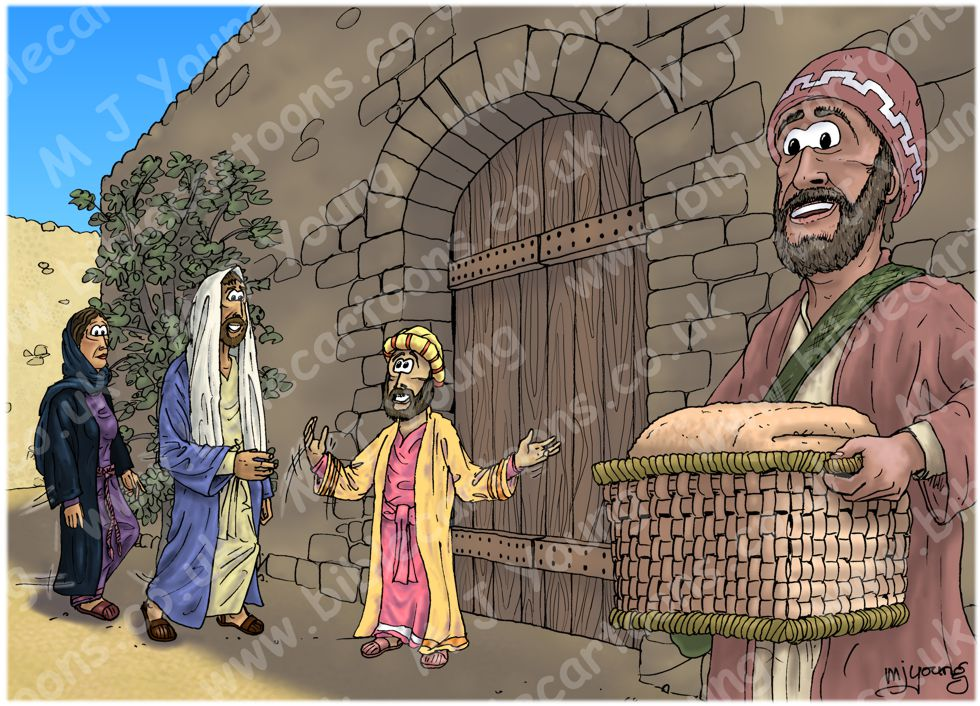 Luke 19 - Zacchaeus the tax collector - Scene 05 - Excited (Colour version) 980x706px col