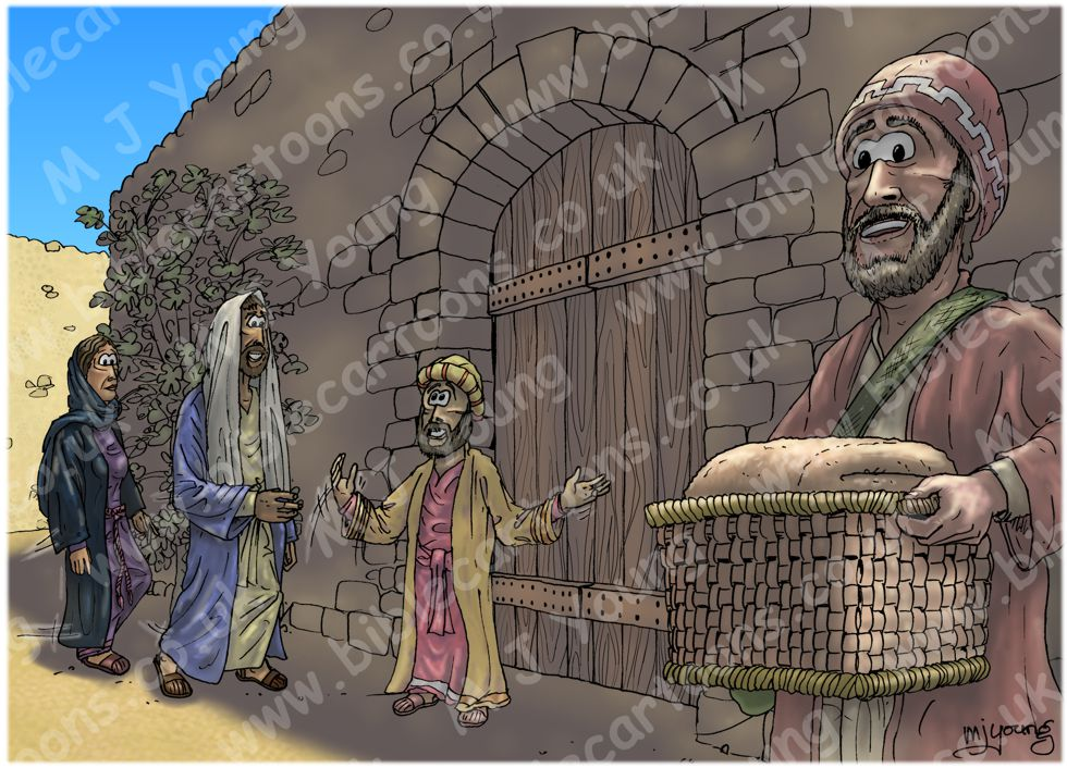 Luke 19 - Zacchaeus the tax collector - Scene 05 - Excited (Sunlight version) 980x706px col