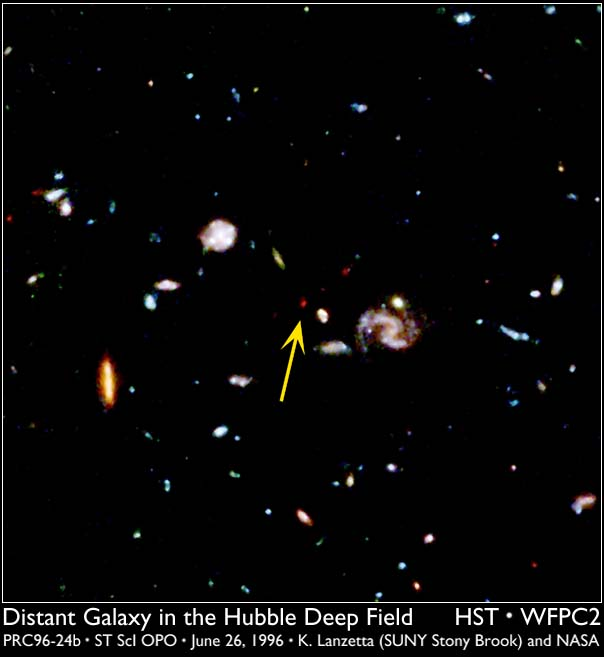Distant galaxy in the Hubble Deep Field
