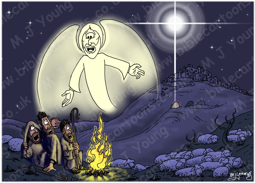 Luke 02 - The Nativity - Angel & Shepherds 02