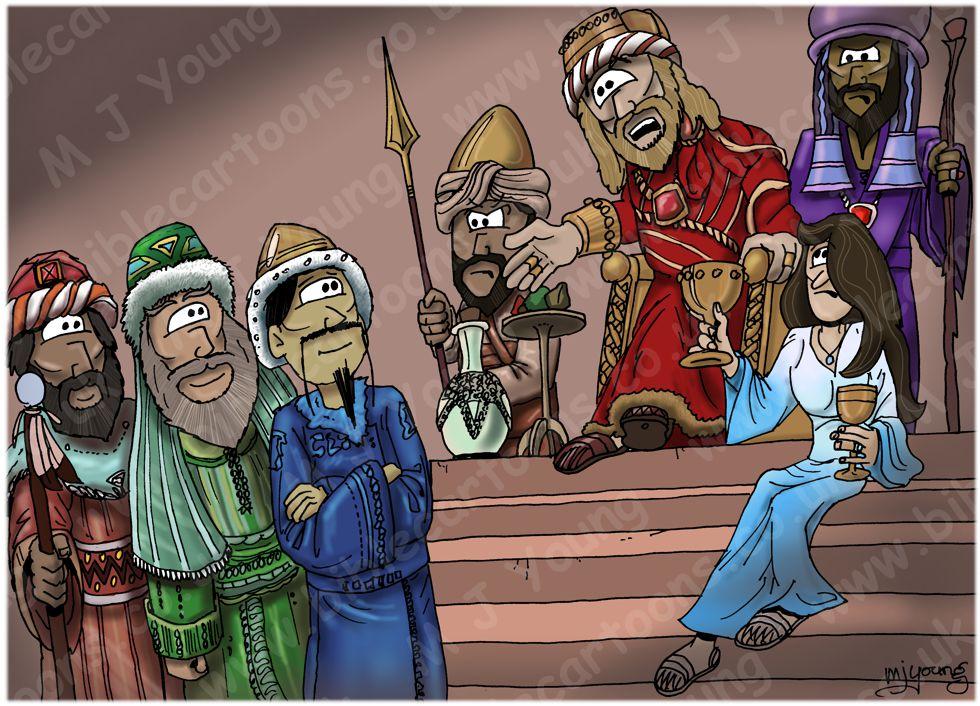 Matthew 02 - The Nativity - Scene 07 - Herod & the wise men