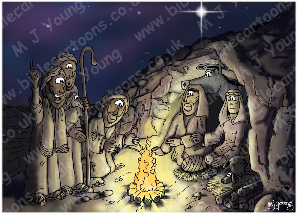 Luke 02 - The Nativity - Cave & shepherds