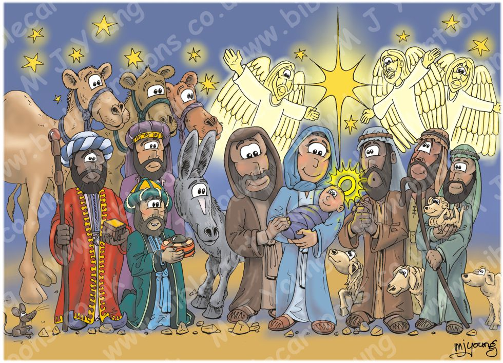 Christmas - Nativity - red cloak