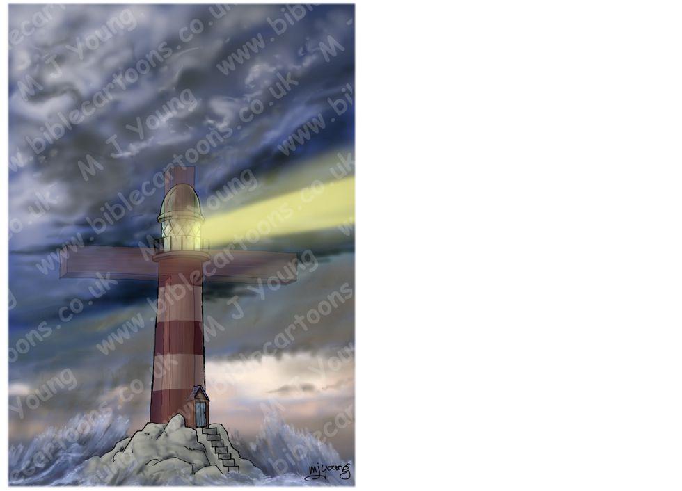 Cross as lighhouse