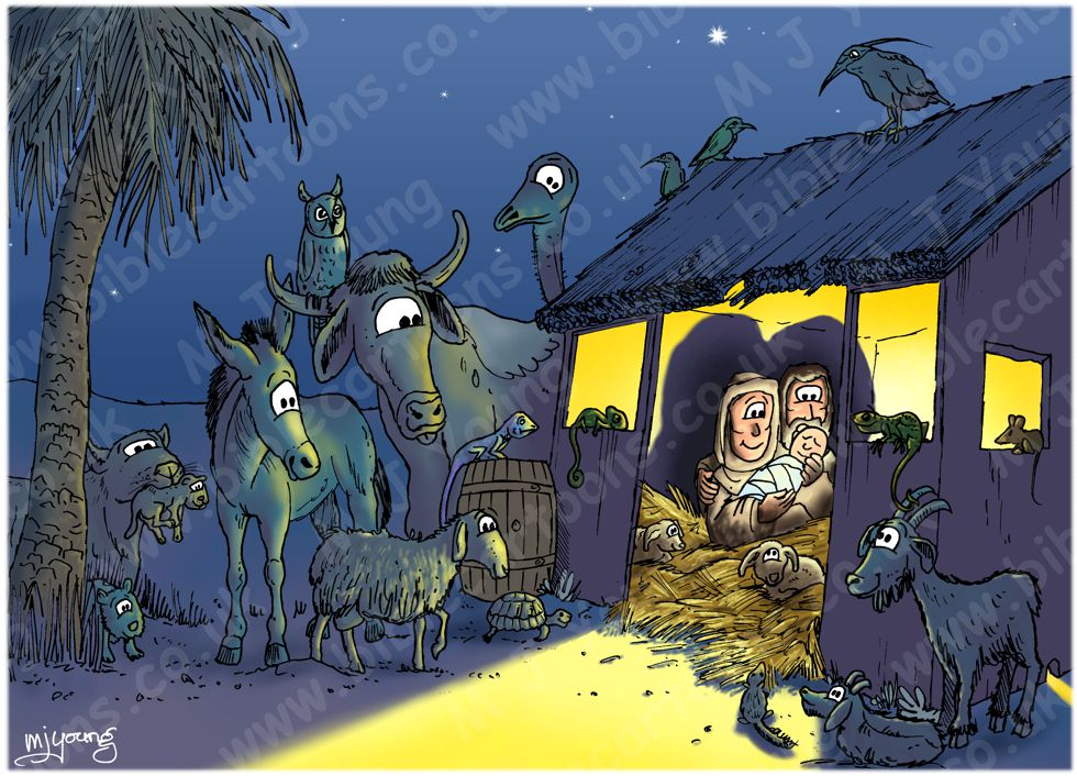 Luke 02 - The Nativity - Stable & animals