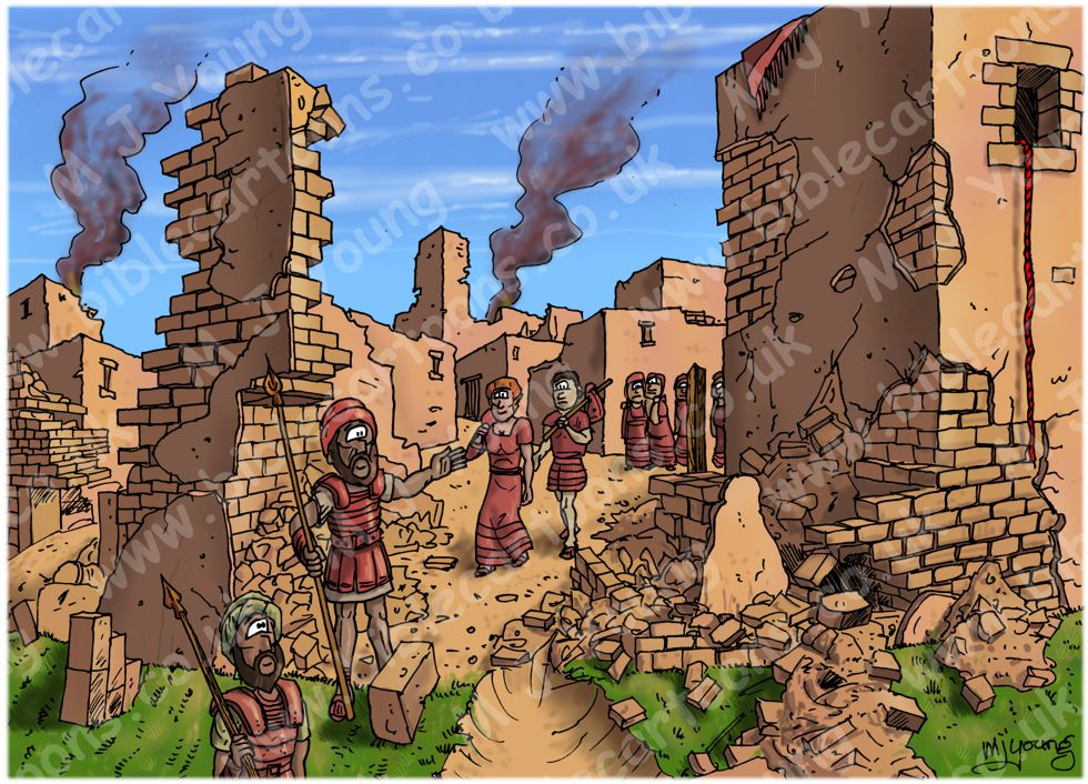 Joshua 6 - Fall of Jericho - scene 05 - Rahab