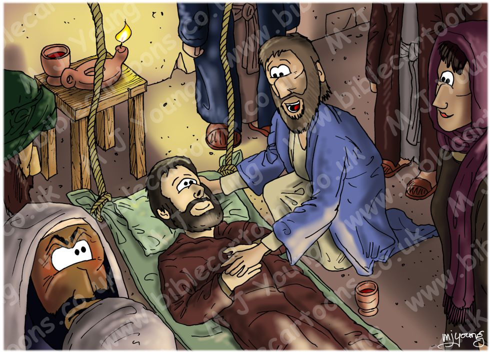 Mark 02 - Jesus & paralytic - scene 05 - Healed