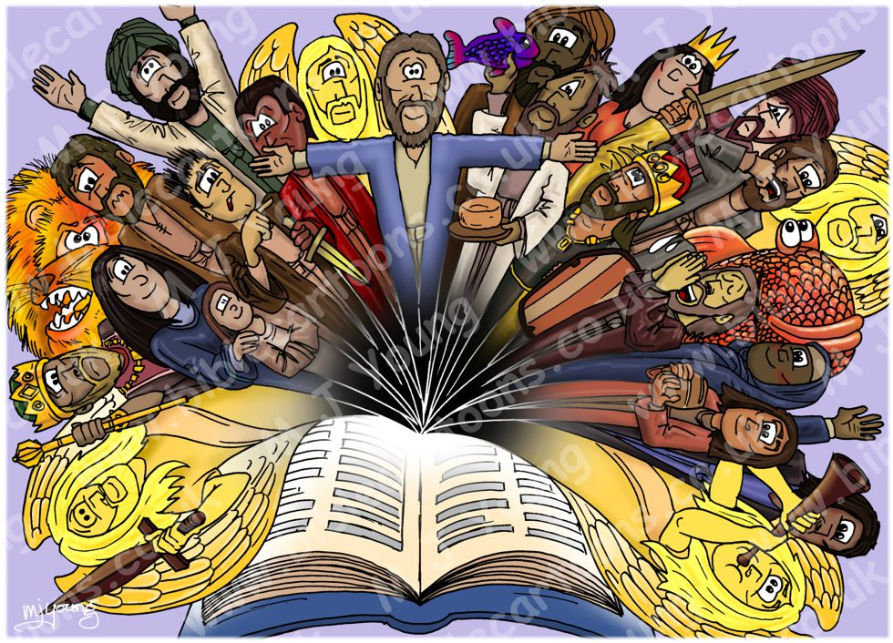 Bible character explosion