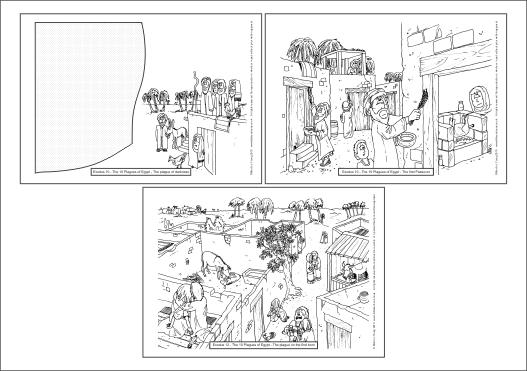 Exodus - 10 Plagues A4 colourin book sheet 03