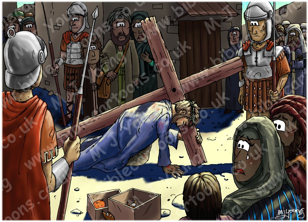 Mark 15 - The Crucifixion - Scene 01 - Led away