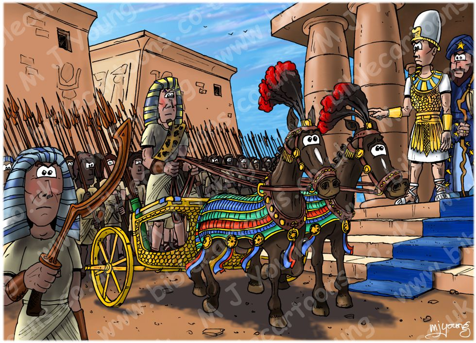 Exodus 14 - Parting of the Red Sea - Scene 03 - Pharaoh's chariot