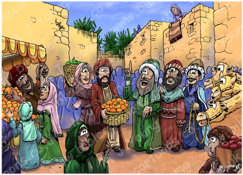 Matthew 02 - The Nativity - Scene 05 - wise men in Jerusalem