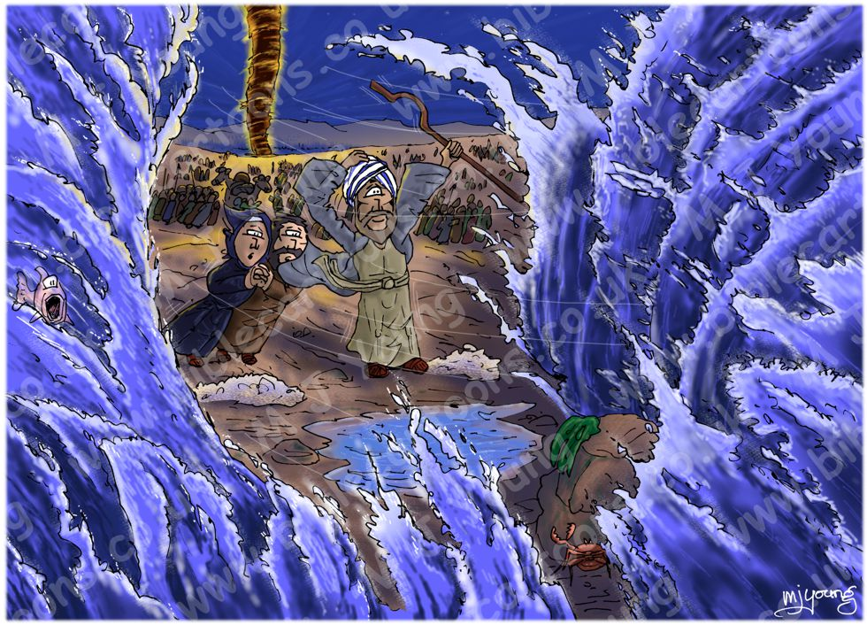 Exodus 14 - Parting of the Red Sea - Scene 09 - Sea parts