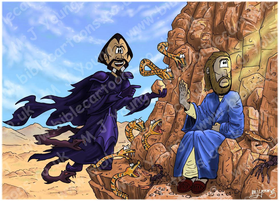 Matthew 04 - Temptation of Jesus - Scene 03 - Stones