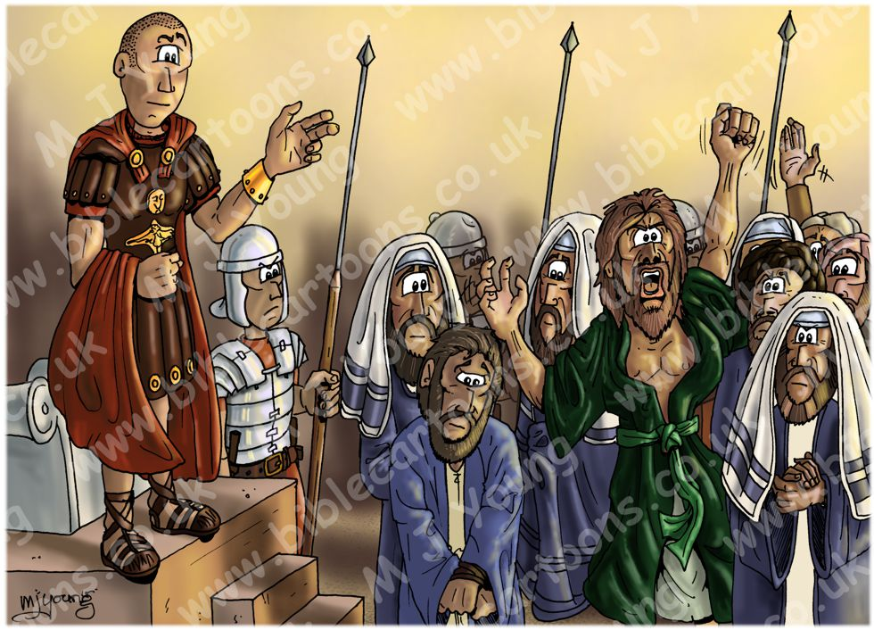 Mark 15 - Trial of Jesus - Scene 06 - Barabbas released