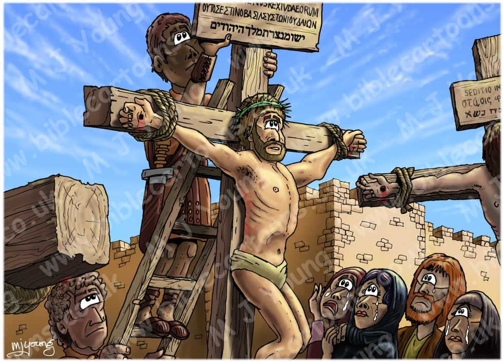 Mark 15 - The Crucifixion - Scene 05 - Sign board