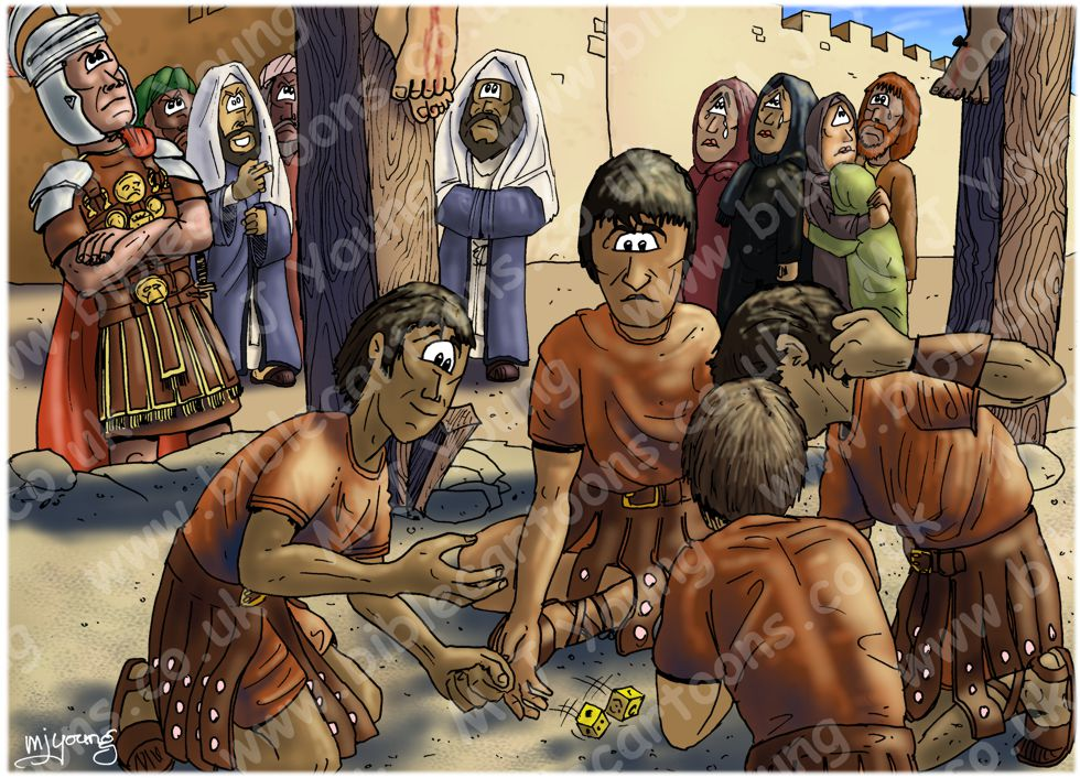 Mark 15 - The Crucifixion - Scene 04 - Soldiers gambling