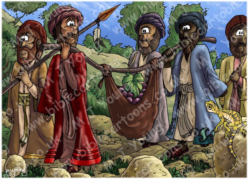 Deuteronomy 1 - Scene 05 - Spies in Eshcol (simple lighting)