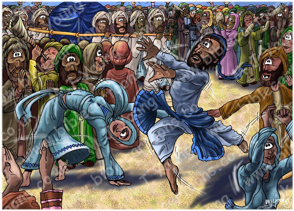 2 Samuel 6 - The Ark brought to Jerusalem - Scene 05 - David dances