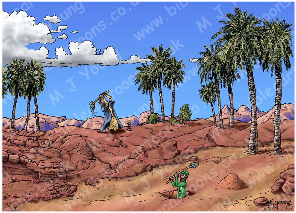 Matthew 07 - Parable of wise & foolish builders - Scene 01 - Digging foundations
