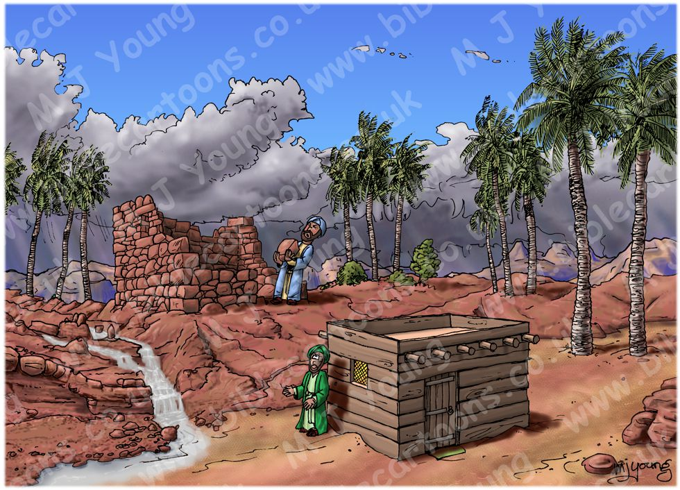 Matthew 07 - Wise & foolish builders - Scene 03 - Foolish Builder finished