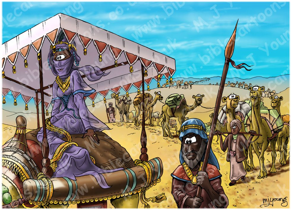 2 Chronicles 9 - Queen of Sheba - Scene 01 - Great caravan