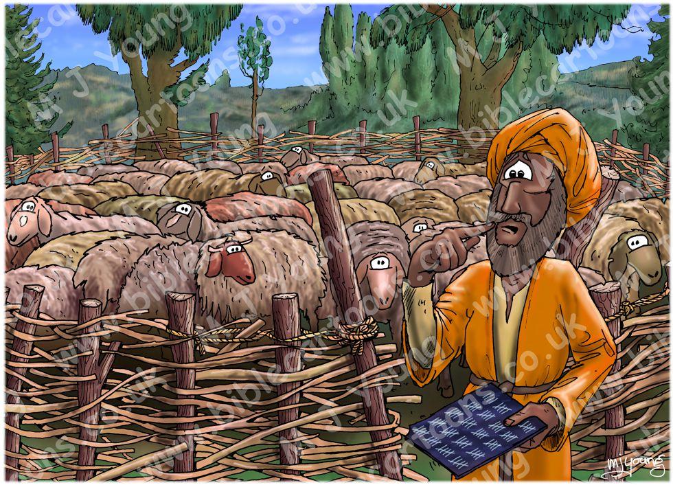 Matthew 18 - Parable of lost sheep - Scene 01 - Sheep pen