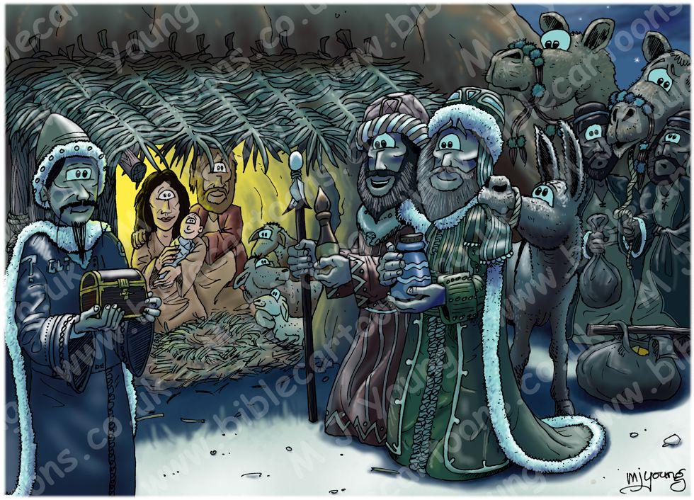 Matthew 02 - The Nativity - Scene 09 - Gifts (Starlight version)
