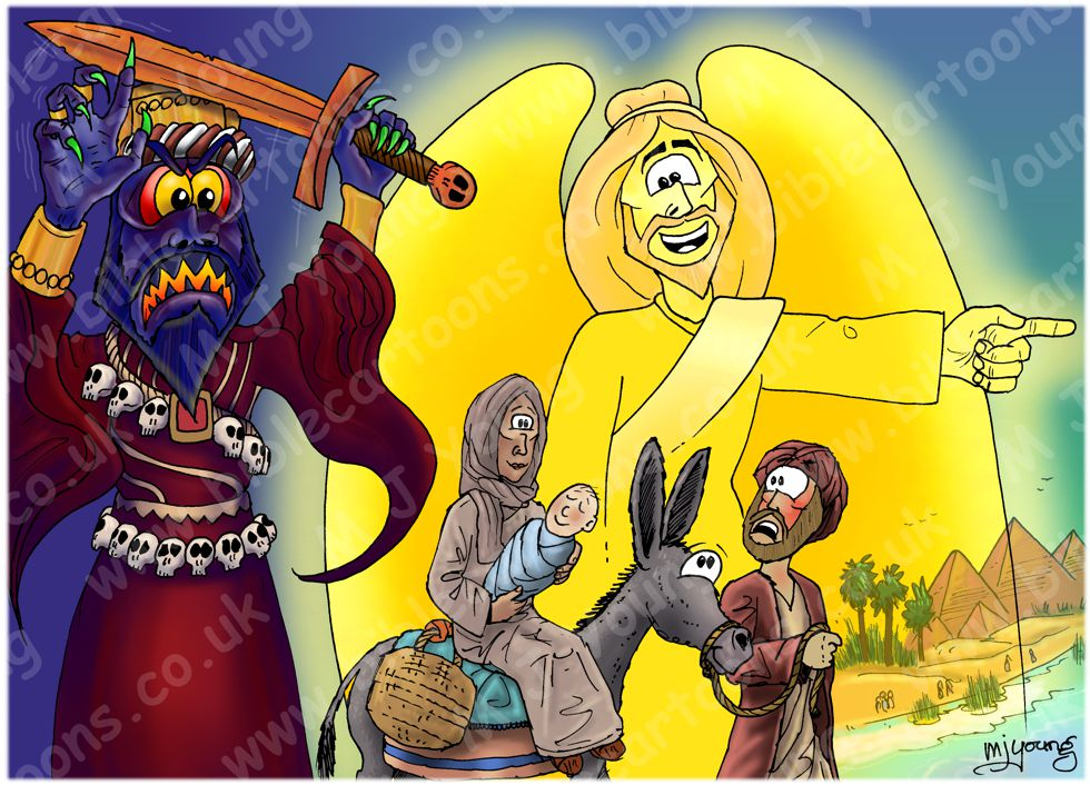 Matthew 02 - The Nativity - Scene 11 - Joseph's Dream