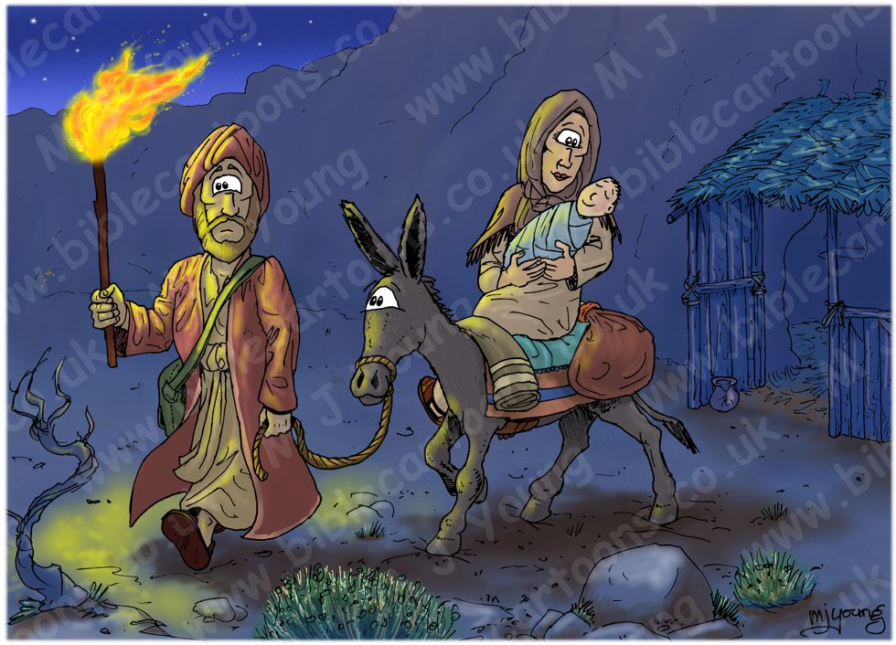 Matthew 02 - The Nativity - Scene 12 - Flight to Egypt (Night version)