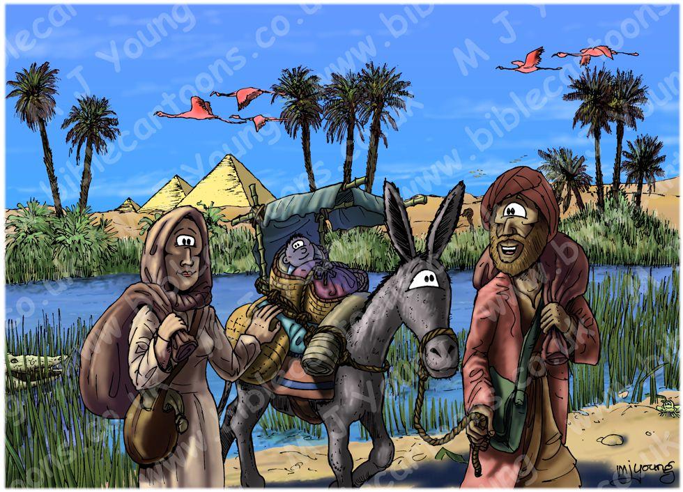 Matthew 02 - The Nativity - Scene 14 - Return to Israel (Colour version)