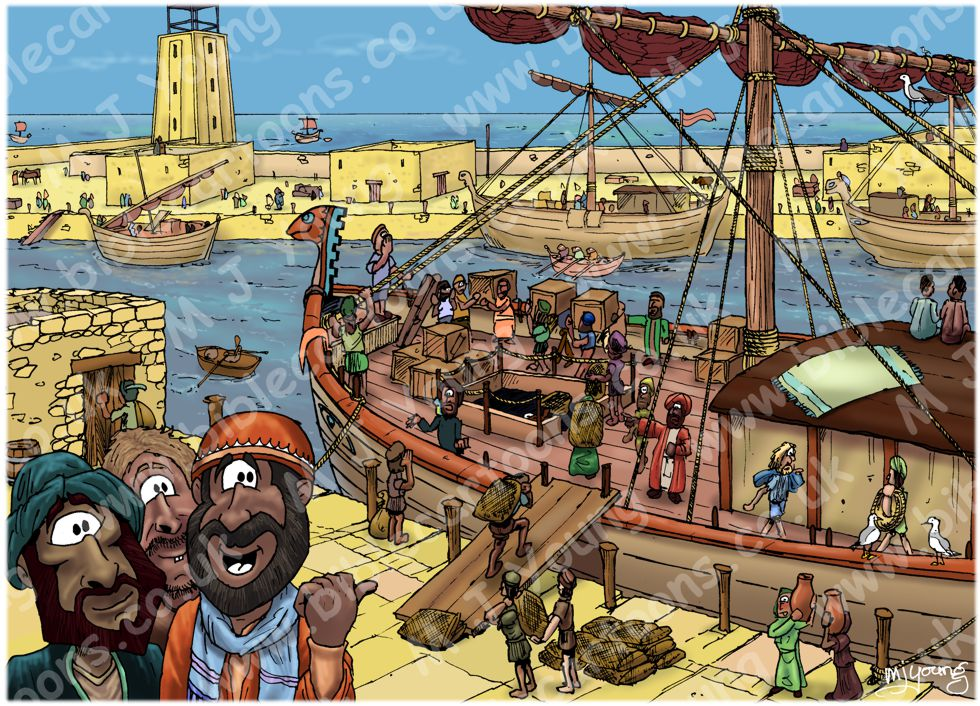 Acts 13 - Paul's first missionary journey - Scene 01 - Sailing for Cyprus
