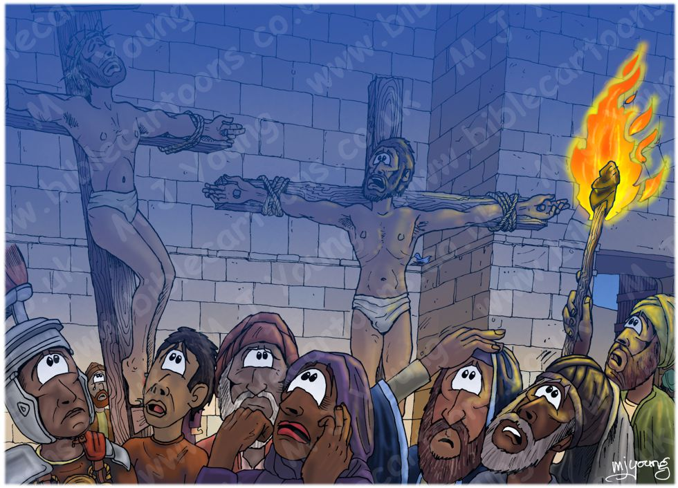 Mark 15 - Death of Jesus - Scene 01 - Darkness descends
