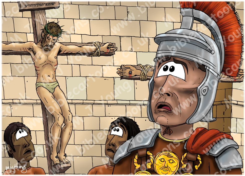 Mark 15 - Death of Jesus - Scene 03 - Centurions confession