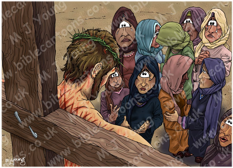 Mark 15 - Death of Jesus - Scene 04 - Women watching